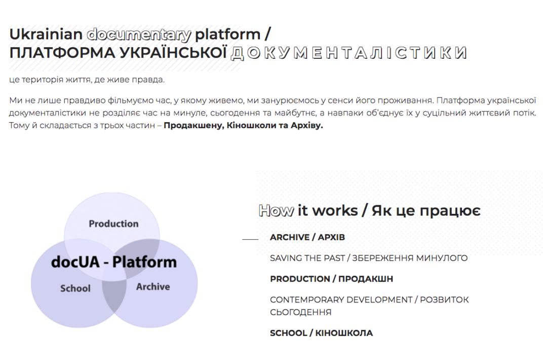 docUA Platform – Платформа української документалістики